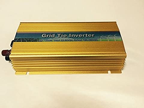BBGS 1000w Micro Solar Grid Tie Inverter DC20-45V to AC110V with Pure Sine Wave Gold Color (DC11-28)