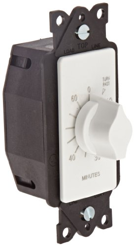 NSi Industries TORK A560MW In-Wall Spring Wound 60-Minute Mechanical Interval Timer Switch - for Indoor/Outdoor Lighting and Fans - Automatic Off - White
