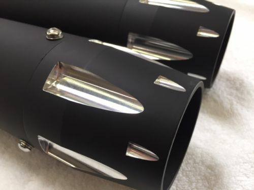 DNA 3'' BLACK CONTRAST HIGH FLOW MUFFLER SLIP ON EXHAUST PIPE HARLEY SPORTSTER XL