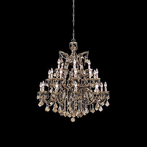 Crystorama 4470-AB-GT-MWP Maria Theresa - Ten Light Chandelier, Golden Teak Hand Cut - Mwp Ab Crystal Gt