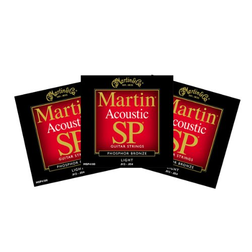 Martin MSP4100 Sp Acoustic Guitar Strings Light 3 (Martin Msp4100 Light)