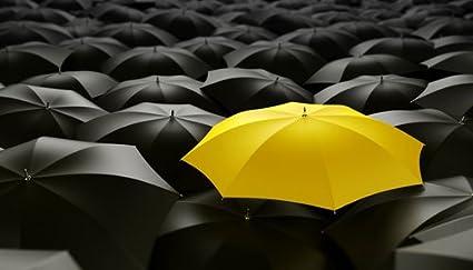 Paragon Square – el paraguas amarillo par zentilia – cuadro photo sobre Alu Dibond – tamaño