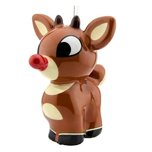 Hallmark Christmas Ornament Rudolph The Red-Nosed Reindeer, Decoupage, Rudolph (Shatterproof), Rudolph (Shatterproof)
