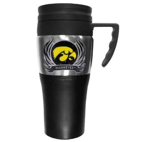 - NCAA Iowa Hawkeyes 2 Toned Travel Mug with Flame Logo