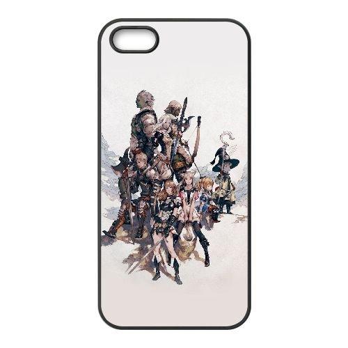 Final Fantasy Xiv 3 coque iPhone 4 4S Housse téléphone Noir de couverture de cas coque EOKXLLNCD10393