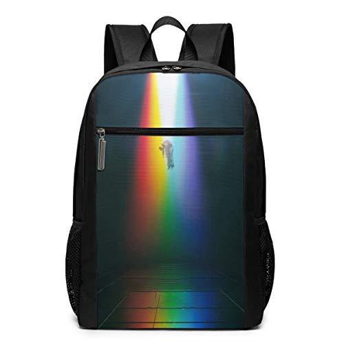 8Lucky Unisex Imagine-Dragons Printed Backpack Student Bookbag Satchel Adult Sports Daypacks Laptop Bags