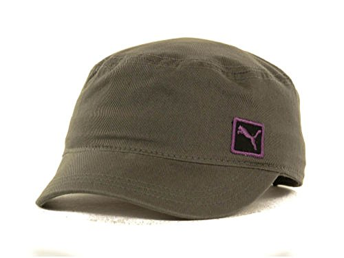 Puma New Leap Cat Gray Military Adjustable Fit Hat Cap- One Size Fits - Military Hat Puma