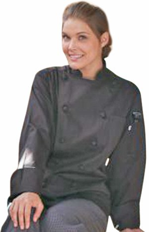 Uncommon Threads Unisex-Adults Plus Size Executive Chef Coat 100PercentC 6X, Black, 6XL by Uncommon Threads