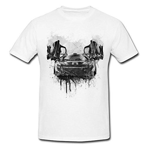 Supercar McLaren P1 T-Shirt Mädchen Frauen, weiß mit Aufdruck