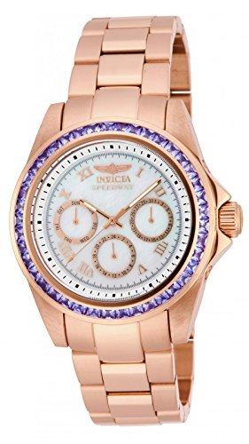 New Womens   Speedway 3.73ctw Tanzanite RoseGold Tone Bracelet Watch - invicta 17715