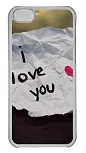 Iphone 5C Cases and Covers I Love You Handwriting PC Shell Case Cover Protection for iPhone 5C - Transparent