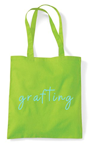 Lime Tote Grafting Quote Statement Bag Shopper Hashtag qRRwTpZtY