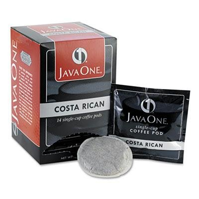 Java One - 4 Pack - Coffee Pods Estate Costa Rican Blend Single Cup 14/Box