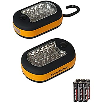 EverBrite 2-Piece 27 LED Compact Work-light Magnetic W/hook Batteries Included