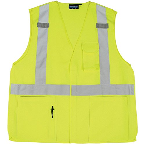 ERB 61376 S360 Class 2 5 Point Break Away Safety Vest, Lime, Large
