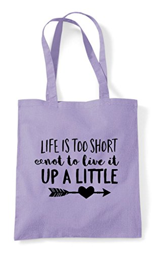 Live Too Little Is Life Statement To Shopper A Not It Up Tote Lavender Bag Short qzzXwF