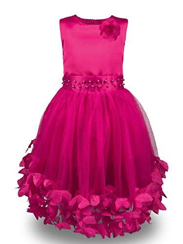 ModaIOO Girl Tutu Flower Petals Bow Bridal Dress -