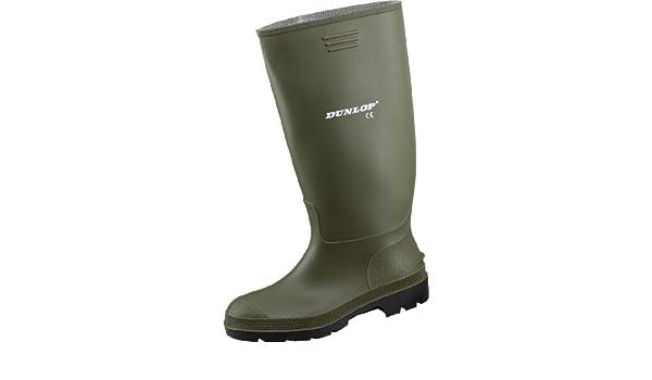 Dunlop - Botas de trabajo (goma, impermeables), color verde, talla 35 EU