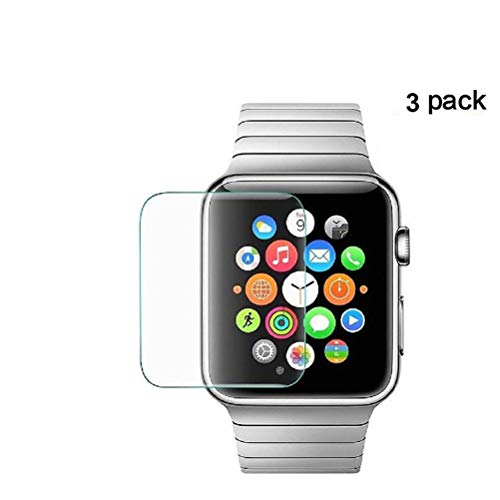 3-Pack Tempered Glass Screen Protector for Apple Watch Series 1/2/3 (42mm)