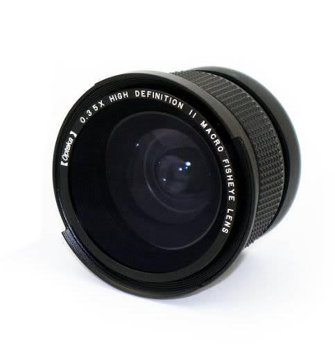 Opteka .35x HDA Super Wide Angle Panoramic Macro Fisheye Lens for Panasonic Lumix DMC-LX3 Digital Camera