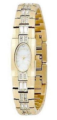 Austrian Crystal Accented Gold-Tone Watch (Womens Austrian Crystal Watch)