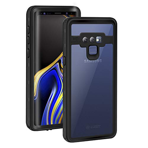 - Meritcase Samsung Galaxy Note 9 Waterproof Case, IP68 Waterproof Shockproof Dustproof Snowproof Full Body Galaxy Note 9 Case with Protector and Kickstand for Men and Women(Black/Clear)