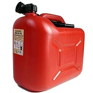 Bidón de gasolina kkr 20PE 20L Rojo Reserva Bidón con ausgiess Tubo