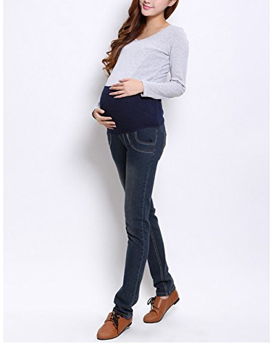 Angebébé - Jeans grossesse gris foncé - femme enceinte
