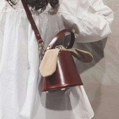 (Shoulder Bags Vintage Luxury Leather Barrel Women Shoulder Bags Designer Fashion Ladies handbags Casual Tote Simple Buckets bag Female Purse)