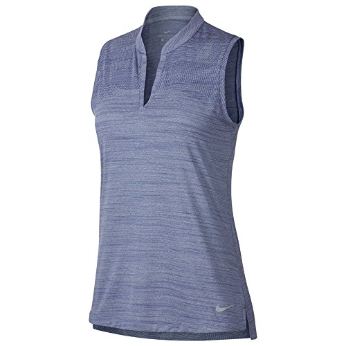 Nike Zonal Cooling Sleeveless Summer Jacquard Golf Polo 2018 Women Purple Slate/Flat Silver Small
