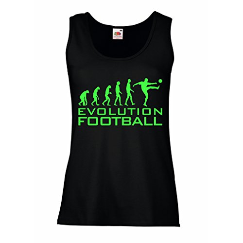 fan products of lepni.me N4466P Female Tank Top The Evolution Football (Small Black Green)