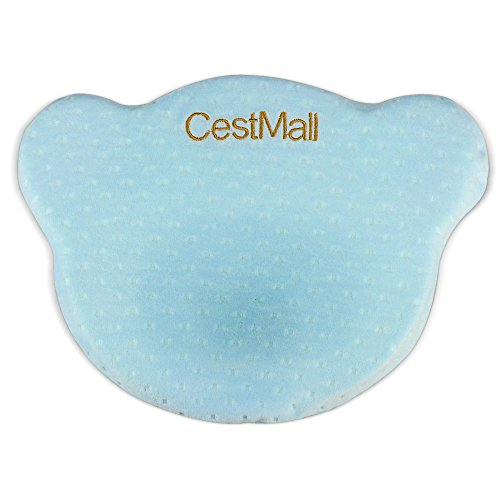 CestMall Baby Pillow, Kids Toddler Pillow With Pillowcase,Memory Cotton Baby Protective Pillow for Flat Head Syndrome Prevention, Suitable from Birth to 0-12 Months
