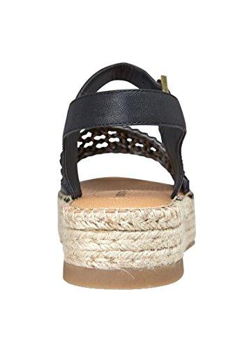 Comfortview Sandales Larges Rowan Pour Femme Noir