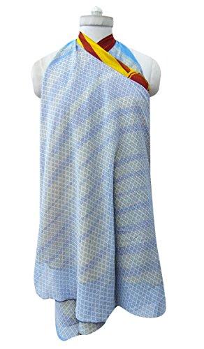Tubo Del Vestido Floral De La Vendimia Georgette Magia Falda Del Abrigo Sarong Azul y amarillo