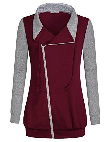 Zipper Long Sleeve Sweatshirts - 9