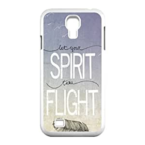 Feather Quote Fly Original New Print DIY Phone Case for SamSung Galaxy S4 I9500,personalized case cover ygtg615645