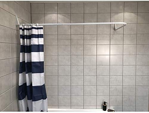 Asta angolare per tenda da doccia Naiture 36 x 36 cm con supporto a soffitto colore: bronzo lucidato a olio in alluminio