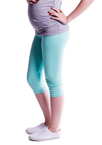 Oasi - Leggings 3/4 alta qualit? 95% Cotone Premaman 3082 Menta
