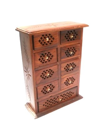 Buy PINDIA Cabinet Mini Wooden Chest Coin Jew Collection Door Home