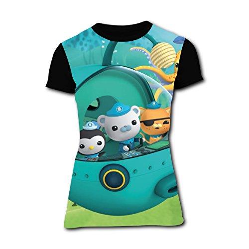 Kwazii Octonauts Costume (Octonauts_Poster Peso T-shirts for Women Short Sleeve Tee Shirt XL)