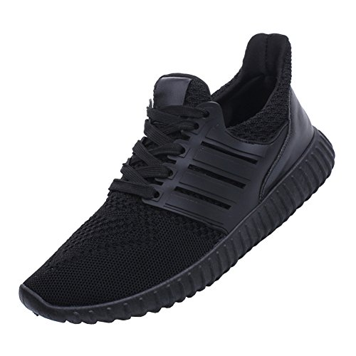 Men Women Unisex Couple Casual Fashion Sneakers Breathable Athletic Sports Shoes Black Women US10/Men US9