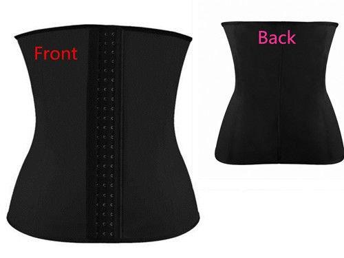 COSWE, Corsetto sportivo in latex, per donna, contenitivo e modellante, anche taglie grandi, misure: dalla XS alla 6XL Black2 XXXL