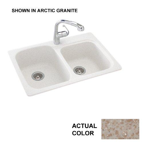 22 x 33 Swanstone KS03322DB.060 1 Hole Solid Surface Kitchen Sink Winter Wheat
