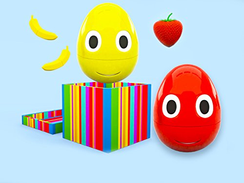 Colour Carpet - Learning colors with cheerful Eggs - wonderful fruits