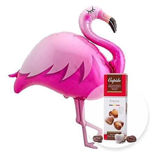 Helio gigante globo Flamingo y bombones de corazones: Amazon.es ...