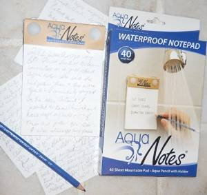 Aqua Notes - Waterproof Paper - With Pencil, Pack of 2 - 40 count each ()