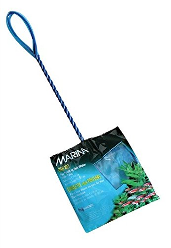 Marina 4-Inch Blue Fine Nylon Net with 10-Inch Handle -