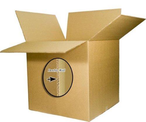 EcoBox 20 x 20 x 20 Inches 275 Double Wall Heavy Duty Corrugated Box (E205)
