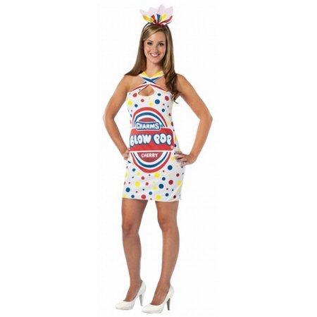 Adult Charms Blow Pop Dress Costume Rasta Imposta 3998 One Size (Blow Pop Adult Costume)