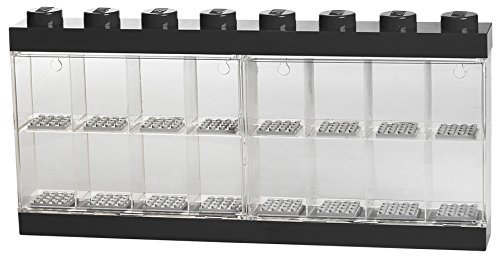 LEGO Minifigure Display Case 16 Black, Large